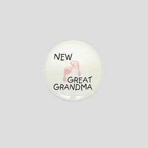 New Great Grandma (pink) Mini Button
