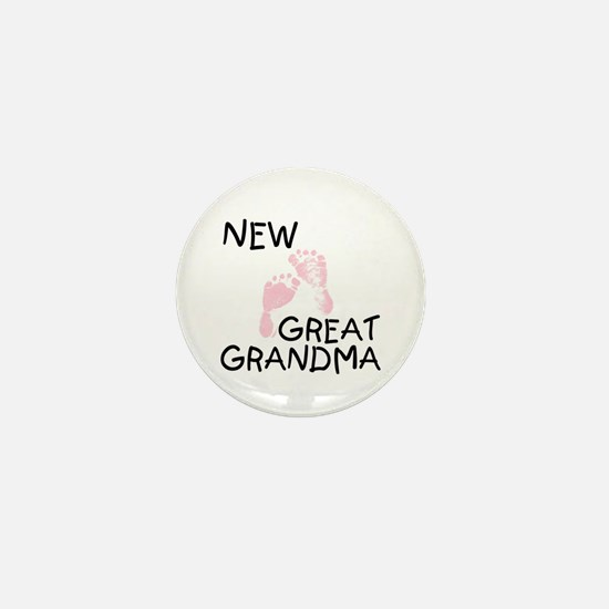 New Great Grandma (pink) Mini Button