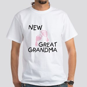 New Great Grandma (pink) White T-Shirt