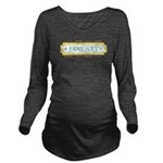January Label Long Sleeve Maternity T-Shirt