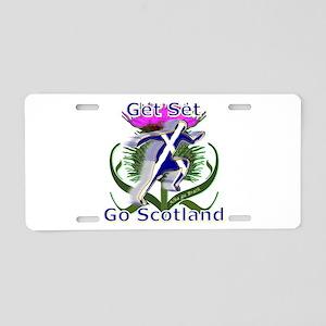 Scotland running designer Aluminum License Plate
