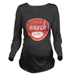 Salmon March Long Sleeve Maternity T-Shirt