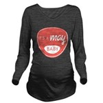 Salmon May Long Sleeve Maternity T-Shirt