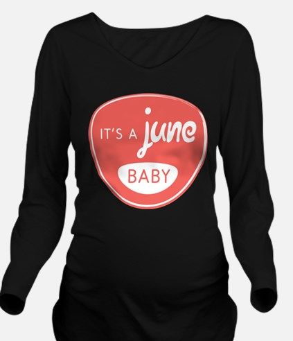 Salmon June Long Sleeve Maternity T-Shirt