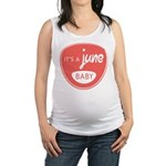 Salmon June Maternity Tank Top