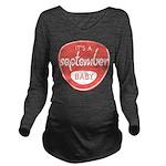 Salmon September Long Sleeve Maternity T-Shirt