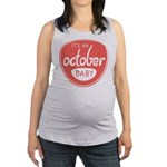 Salmon October Maternity Tank Top