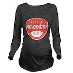 Salmon November Long Sleeve Maternity T-Shirt