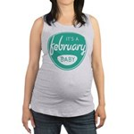 Sea February Maternity Tank Top
