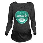 Sea March Long Sleeve Maternity T-Shirt