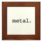 metal. Framed Tile