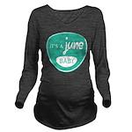 Sea June Long Sleeve Maternity T-Shirt