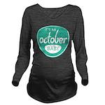 Sea October Long Sleeve Maternity T-Shirt