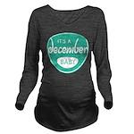Sea December Long Sleeve Maternity T-Shirt