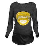 Yellow January Long Sleeve Maternity T-Shirt