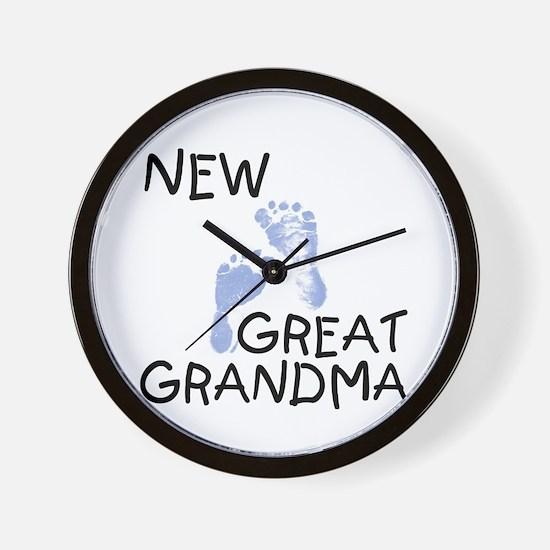 New Great Grandma (blue) Wall Clock