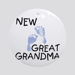 New Great Grandma (blue) Ornament (Round)