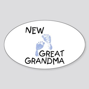 New Great Grandma (blue) Oval Sticker