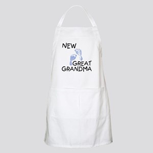 New Great Grandma (blue) BBQ Apron