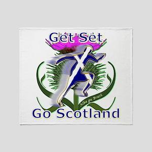 Scotland Running Designer Throw Blanket