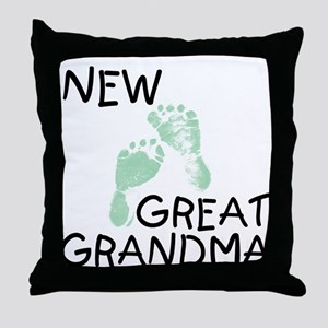New Great Grandma (green) Throw Pillow