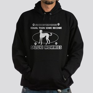Become saluki mommy Hoodie (dark)