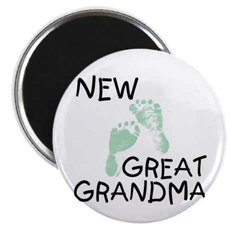 "New Great Grandma (green) 2.25"" Magnet (10 pack)"