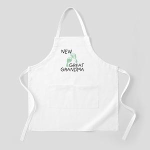 New Great Grandma (green) BBQ Apron