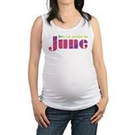Deco Stencil June Maternity Tank Top