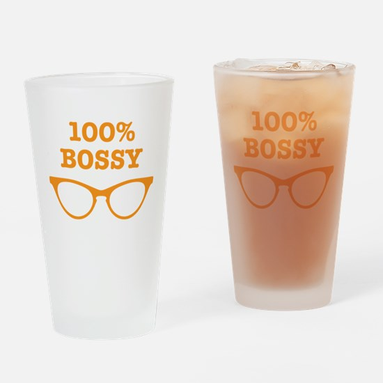 100% percent BOSSY with cats eyes glasses Drinking