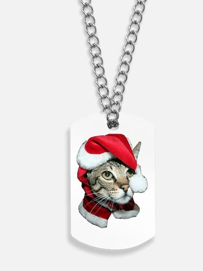 Santa Cat Savannah Dog Tags
