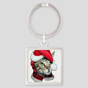 Santa Cat Savannah Keychains