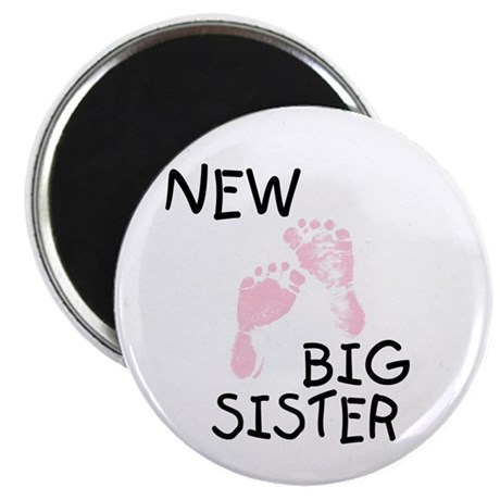 "New Big Sister (pink) 2.25"" Magnet (100 pack)"