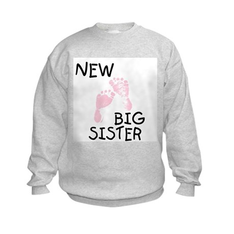 New Big Sister (pink) Kids Sweatshirt