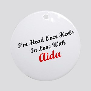 In Love with Aida Ornament (Round)