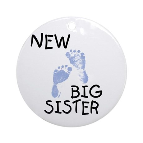New Big Sister (blue) Ornament (Round)