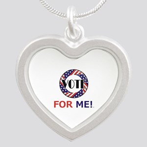 Vote for Me Silver Heart Necklace