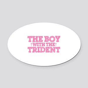 The Boy With The Trident Oval Car Magnet
