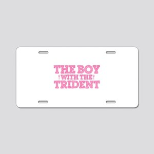 The Boy With The Trident Aluminum License Plate