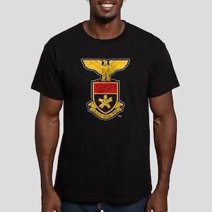 Alpha Eta Rho Crest Men's Fitted T-Shirt (dark)