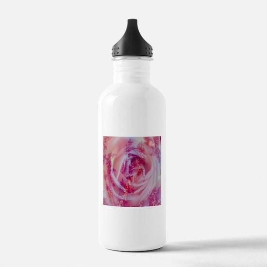 fractal rose Water Bottle