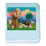 StFrancis-4Cavaliers baby blanket