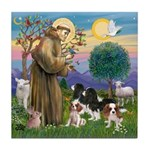 StFrancis-4Cavaliers Tile Coaster