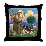 StFrancis-4Cavaliers Throw Pillow