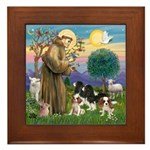 StFrancis-4Cavaliers Framed Tile