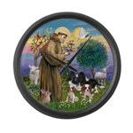 StFrancis-4Cavaliers Large Wall Clock
