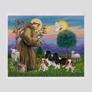 StFrancis-4Cavaliers Throw Blanket