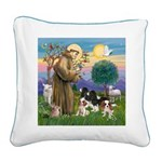 StFrancis-4Cavaliers Square Canvas Pillow