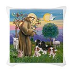 StFrancis-4Cavaliers Woven Throw Pillow