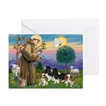 StFrancis-4Cavaliers Greeting Cards (Pk of 10)